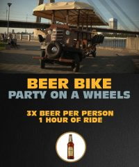 Beer Bike - Party on a Wheels in Riga - 3x beer per person, 1 hour of ride.