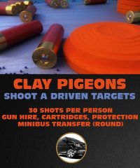 Clay Pigeons Shooting Targets in Riga - 30 Shots P.P, gun hire, cartridges, protection