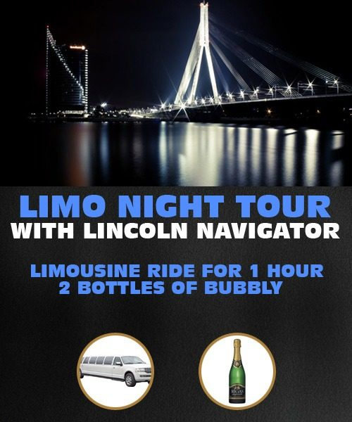 Riga Limo Night Tour With Lincoln Navigator For 1 Hour