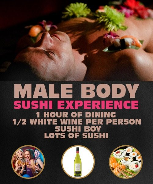 Male Body Sushi Experience in Riga.