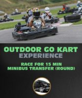 Outdoor Go Kart Race For 15 Min in Riga.
