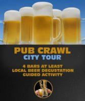 Pub Crawl City Tour in Riga. 4 Bars at least, Local beer degustation.