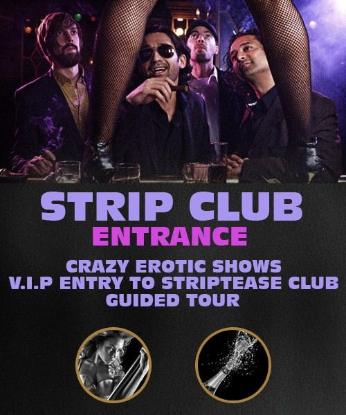Stripclub Entrance in Riga - Crazy Erotic Shows, V.I.P Entry.