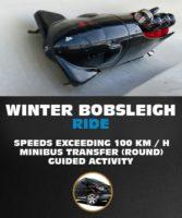 Winter Bobsleigh Ride in Latvia. Speeds Exceeding up to 100km/h.