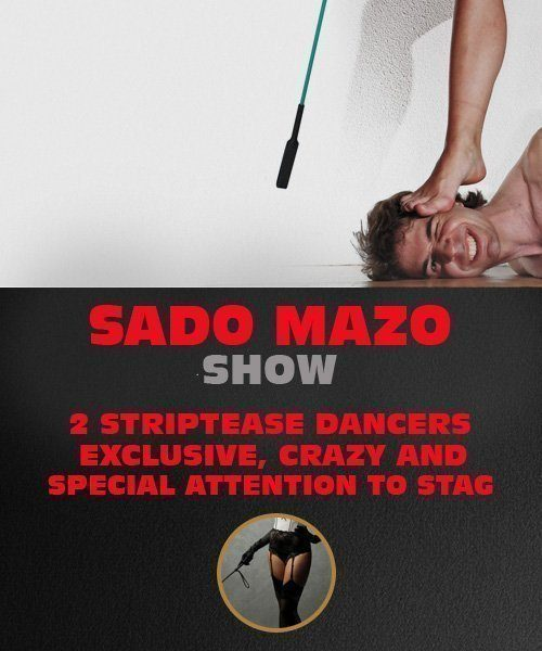 Sado Mazo Show for Stag Do in Riga.