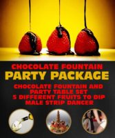 Chocolate Fountain Party Package by www.rigastagpartyweekend.com