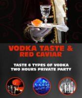 Vodka Tasting and Red Caviar - Taste 6 types of vodka in Riga