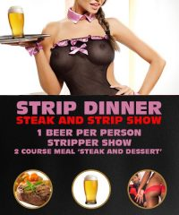 Strip Dinner (steak n strip show) in Riga by www.rigastagpartyweekend.com