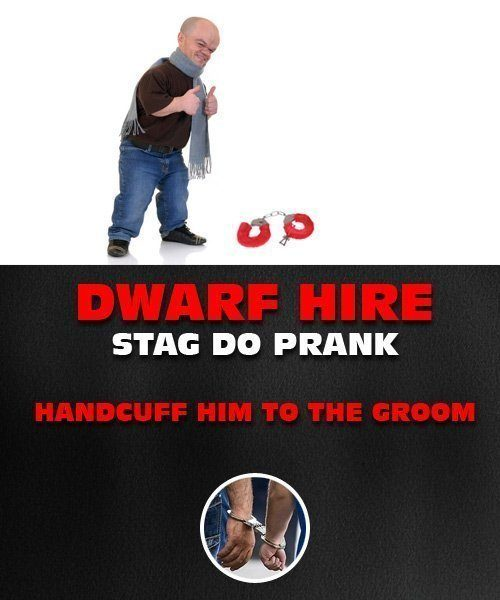 Handcuff Dwarf To The Groom
