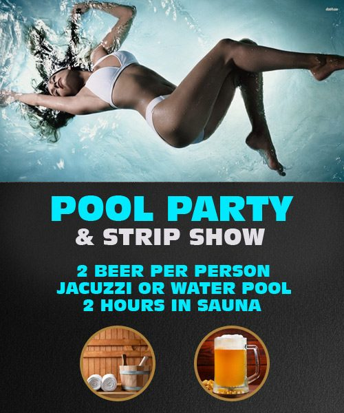 Pool Party With Strippers In Riga | Latvia Stag Do